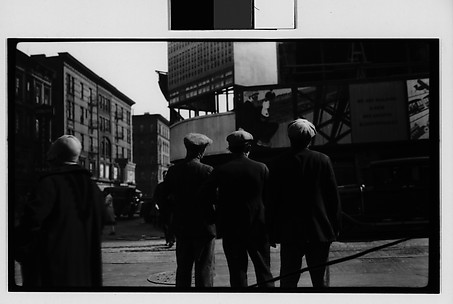 [Onlookers at Bloomingdale's Construction Site on Fifty-Ninth Street, From Behind, New York City]