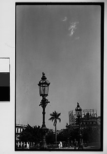 [View of Central Square with Lampposts, Havana, Cuba]