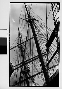 [Detail of Ship Masts and Rigging, New York City]