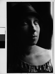 [Woman in Hat, Possibly Avis Ferne, Looking Upward]