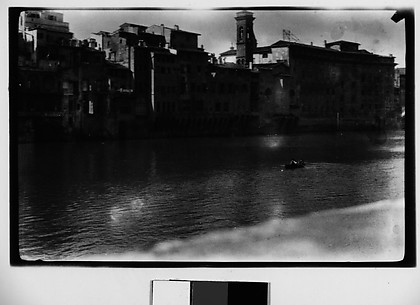 [View of Florence or Pisa, From Across Arno River, Italy]