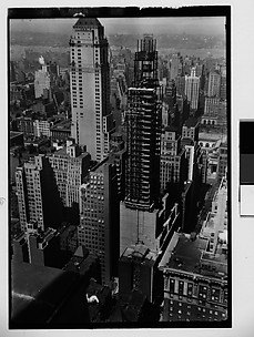 [Lefcourt Colonial Building Construction Site, from Roof of Chanin Building?, New York City]