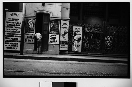 [Cinema Entrance and Posters on Street, Havana]