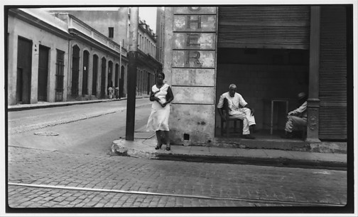 [Men and Woman on Street Corner, Havana]
