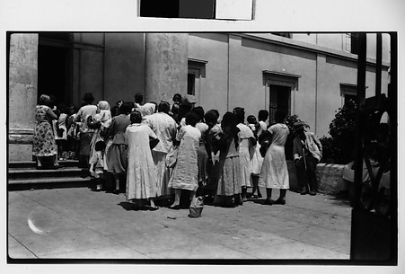 [Group of Women Entering Building, Havana]