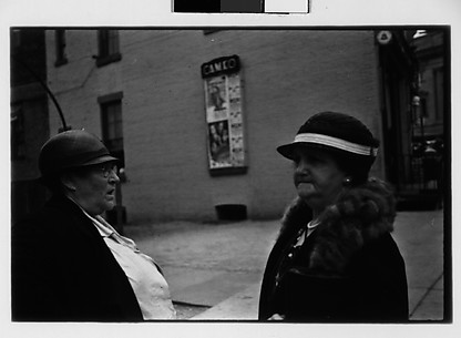 [Two Women in Conversation on Street, Ossining, New York]