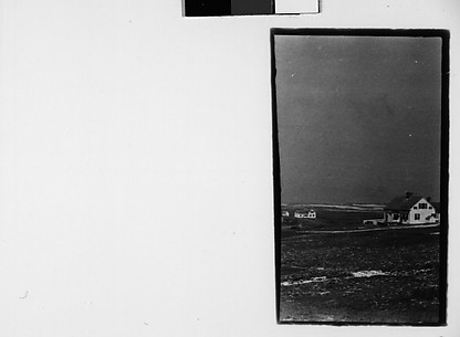 [Cut Fragment: Partial View of Clapboard Houses in Field, Cape Cod?, Massachusetts]