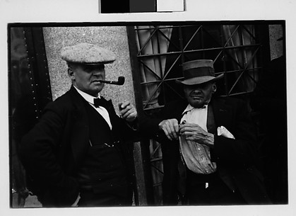 [Two Men on Street, Ossining, New York]