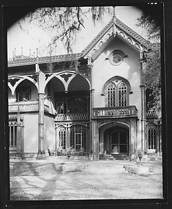 [Afton Villa Plantation House Doorway and Patio, West Feliciana Parish, Louisiana]