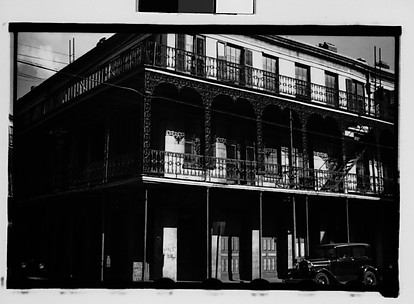 [Cast-Iron Balconied Houses with Parked Car, Mobile, Alabama]