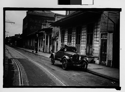 [Parked Car on Burgundy Street in French Quarter, New Orleans, Louisiana]
