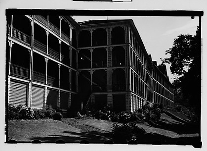 [Side View of Hotel Porches, Bedford Springs, Pennsylvania]