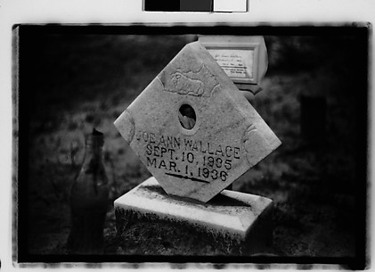 [Headstone and Bottle on Grave, Alabama]
