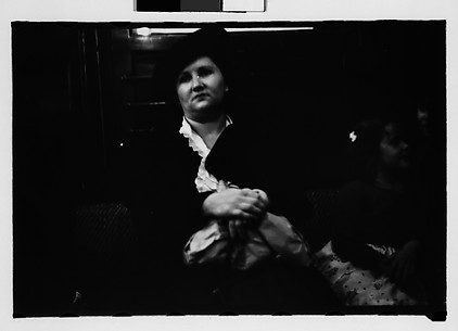 [Subway Passengers, New York City: Woman with Little Girl]