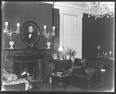 [Living Room Interior, Residence of Gifford Cochran, Croton Falls, New York]