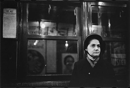 [Subway Passenger, New York City: Woman in Black Bonnet]