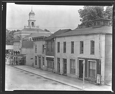 [Shopfronts and Gas Station From Elevated Position, Greensboro, Alabama]