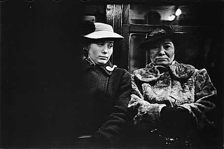 [Subway Passengers, New York City: Two Women on Times Square Shuttle]