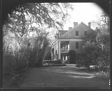 [Left Wing of Brick Greek Revival House, Residence of Weeks Hall, New Iberia, Louisiana]