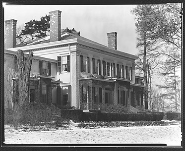 [Rear View of Greek Revival House, Residence of Gifford Cochran, Croton Falls, New York]