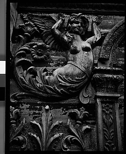 [Relief Carving on Ringling Bandwagon, Circus Winter Quarters, Sarasota, Florida]