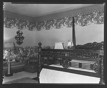 [Bedroom in Residence of Gifford Cochran, Croton Falls, New York]