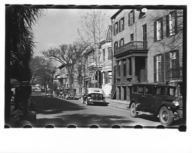 [View Down Street, Savannah, Georgia]