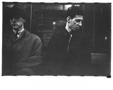 [Subway Passengers, New York City: Two Men]