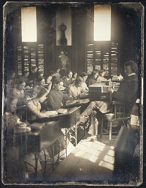 Classroom in the Emerson School for Girls