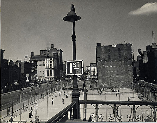 [Playground, 1st and Houston Streets, New York]