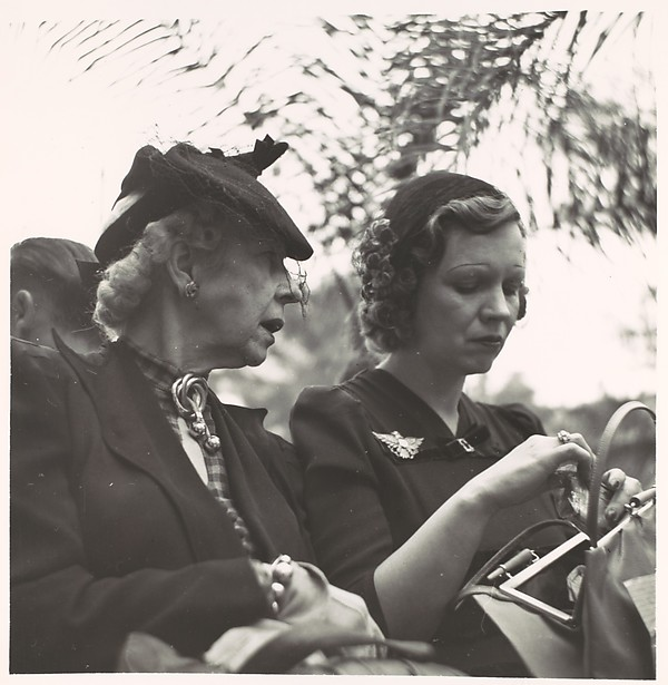 [Two Women Seated on Park Bench, Florida]