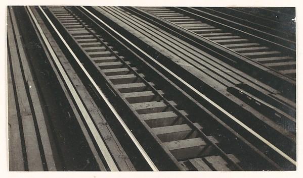 [Elevated Train Tracks on Brooklyn Bridge, New York City]