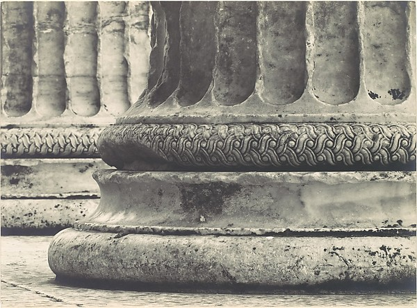 [Base of Ionic Column, North Porch of the Erechtheion, the Acropolis, Athens]