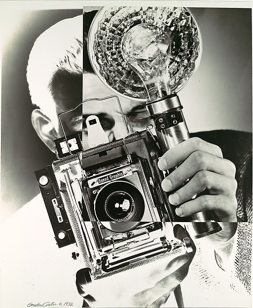 [Portrait/Self-Portrait with Speed Graphic Camera]