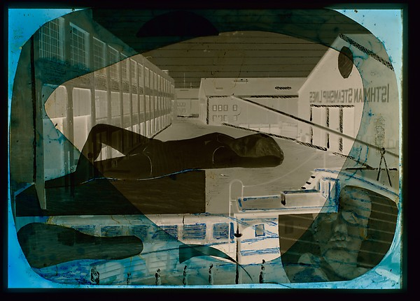 [Waterfront Scene with Reclining Woman, Self-Portrait]