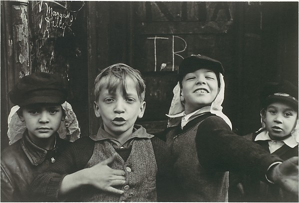 "[Four Boys in ""Beau Geste"" Headgear, New York City]"