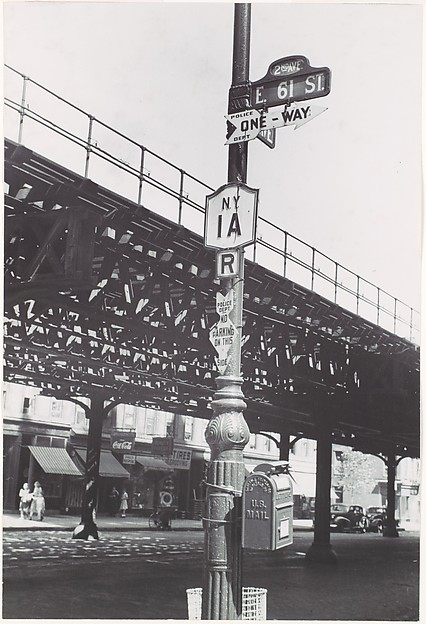 [Street Lamp at Corner of 1st Avenue and 61st Street, New York City]