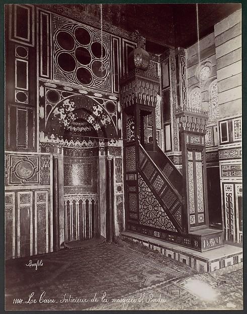 Le Caire - Intérieur de la mosquée El Bordei