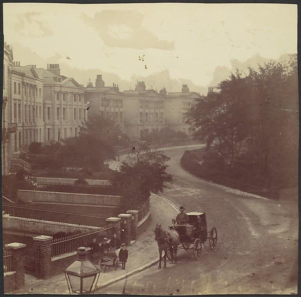 [Carriage on Street in Residential Neighborhood, London]