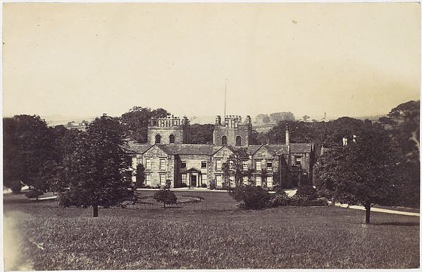 [Manor House with Two Towers Seen from Grounds]