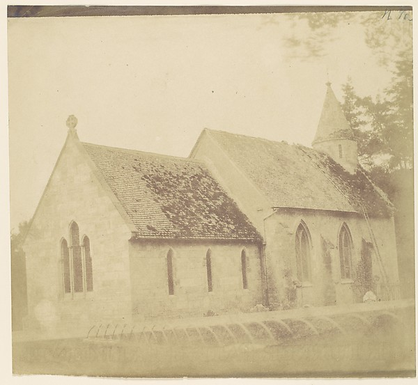 Fascinating Historical Picture of Unknown with [Country Church] in 1850