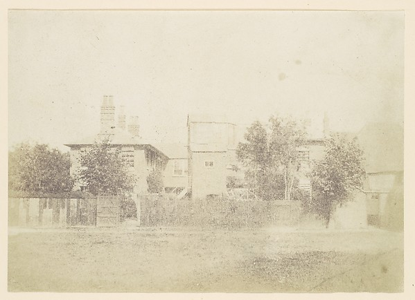 Fascinating Historical Picture of Unknown with [Compound of Buildings Surrounded By Fence] in 1850