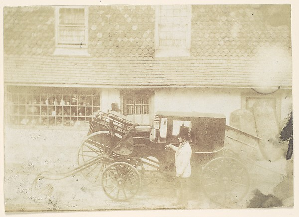Fascinating Historical Picture of Unknown with [Men By Carriage in Street] in 1850