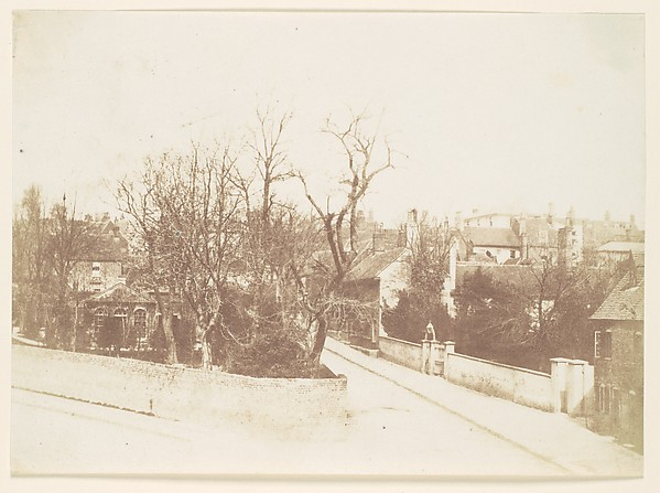 Fascinating Historical Picture of Unknown with [Lane Through A Village] in 1850