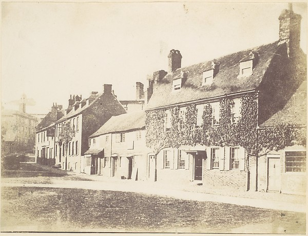 This is What Unknown and [Houses on Village Street] Looked Like  in 1850