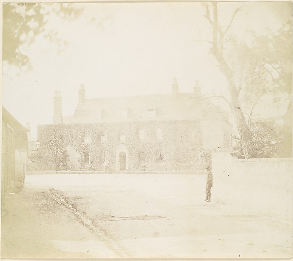 Fascinating Historical Picture of Unknown with [Man in Courtyard Before House] in 1850