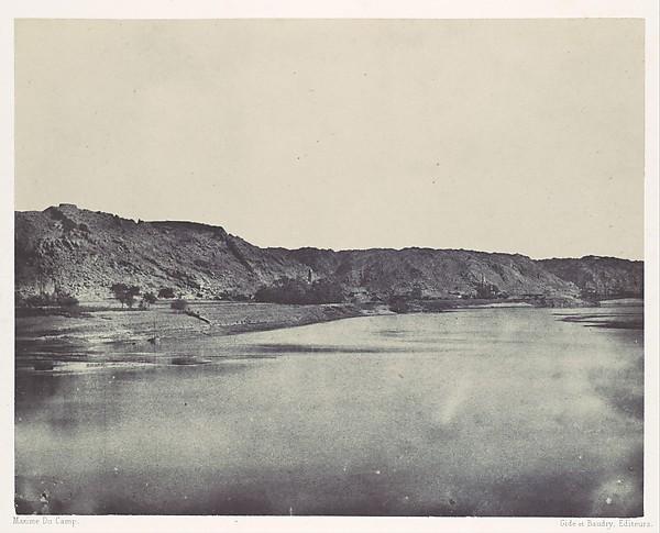 Nubie. Rive Orientale du Nil (Village de Bab). Vue prise au sud de Philoe