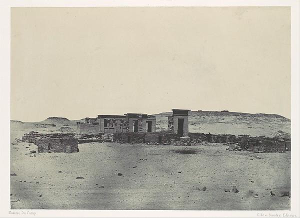 Nubie. Temple et Village de Débôd. Parembole de l'itinéraire d'Antonin