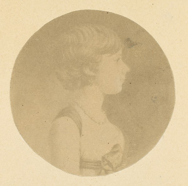 [Mezzotint portrait of a Girl in Profile, from The St. Memin Collection of Portraits]