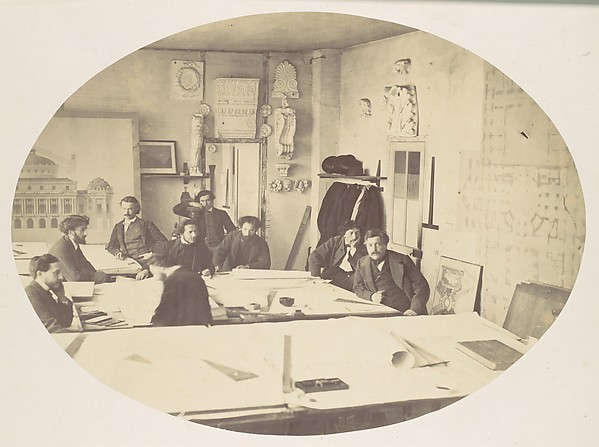 [Charles Garnier in the Drafting Room While Designing the New Paris Opera]
